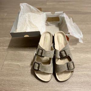JSport by Jambu Taupe Libra Suede Sandals Sz 10
